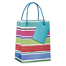 Buy John Lewis Chalky Stripe Gift Bag, Mini Online at johnlewis.com
