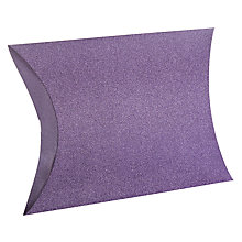 Buy John Lewis Encapsulated Glitter Gift Pillow, Purple Online at johnlewis.com