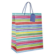 Buy John Lewis Chalky Stripe Gift Bag, Medium Online at johnlewis.com