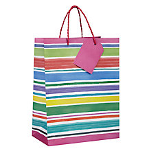 Buy John Lewis Chalky Stripe Gift Bag, Small Online at johnlewis.com