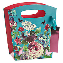 Buy John Lewis Butterfly Shimmer Gift Bag, Mini Online at johnlewis.com