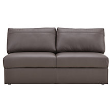 Buy House by John Lewis Finlay II Large Armless Leather Unit Online at johnlewis.com