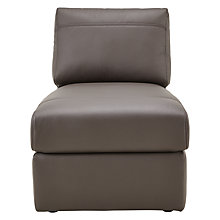 Buy House by John Lewis Finlay II Armless Leather Chaise Unit Online at johnlewis.com