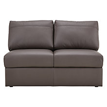 Buy House by John Lewis Finlay II Small Armless Leather Unit Online at johnlewis.com