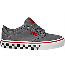 Buy Vans Atwood Fox Pewter Check Canvas Trainer, Grey Online at johnlewis.com