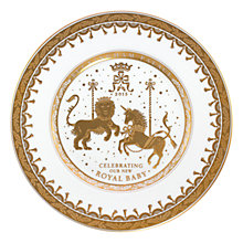 Buy Royal Collection Royal Baby Porcelain Plate 2015 Online at johnlewis.com