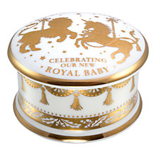 Buy Royal Collection Royal Baby Porcelain Pillbox 2015 Online at johnlewis.com