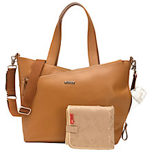 Buy Storksak Lucinda Leather Baby Changing Bag, Tan Online at johnlewis.com