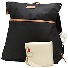 Buy Storksak Brook Baby Changing Backpack, Black Online at johnlewis.com