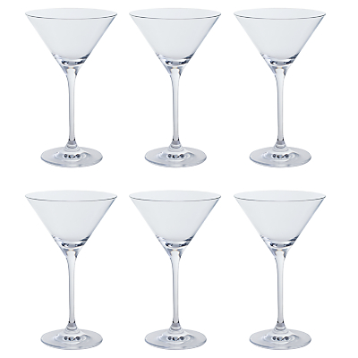 Dartington Crystal All Purpose Cocktail Glasses, Clear, Set of 6