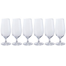 Buy Dartington Crystal All Purpose Beer Glasses, Clear, Set of 6 Online at johnlewis.com