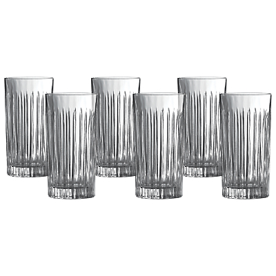 Royal Doulton Linear Crystaline Highball, Clear, Set of 6