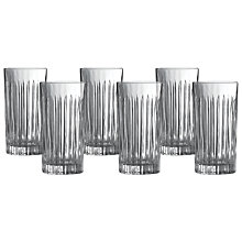 Buy Royal Doulton Linear Crystaline Highball, Clear, Set of 6 Online at johnlewis.com