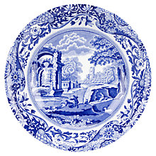 Buy Spode Italian Cereal Bowl, Blue Online at johnlewis.com