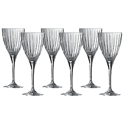 Royal Doulton Linear Wine Glasses, Clear, Set of 6
