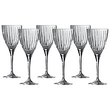 Buy Royal Doulton Linear Wine Glasses, Clear, Set of 6 Online at johnlewis.com