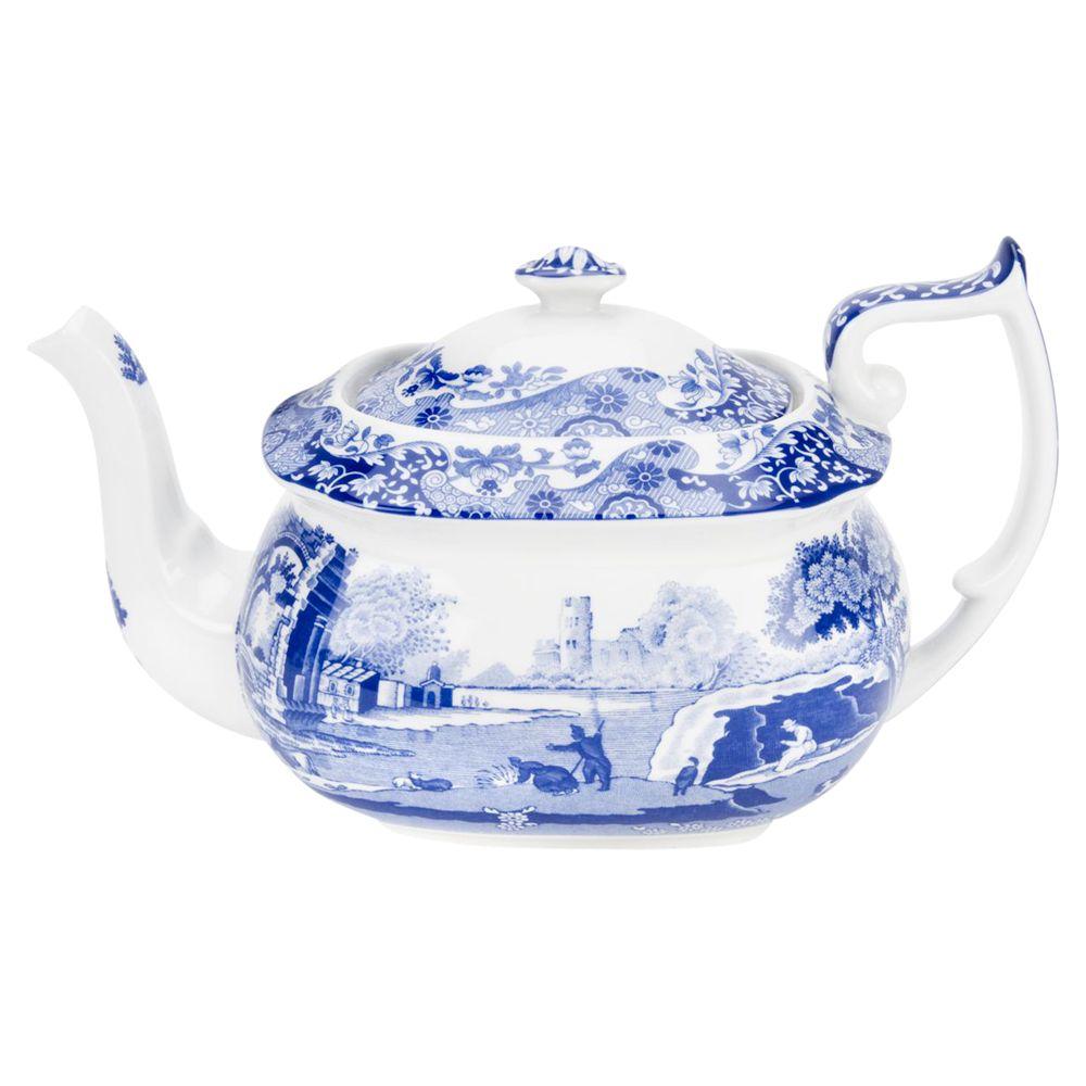 Spode Spode Blue Italian Teapot, 1.1L, Seconds