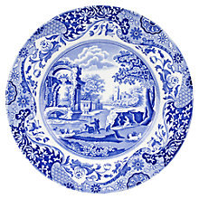 Buy Spode Italian Dinner Plate, Blue Online at johnlewis.com