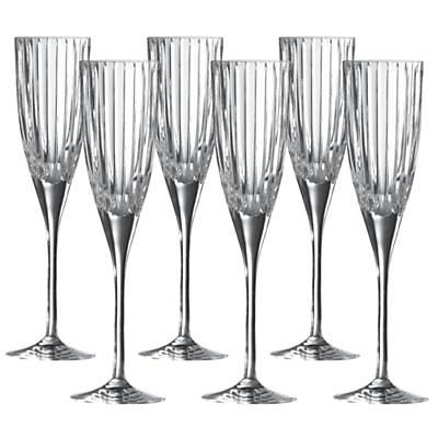 Royal Doulton Linear Flutes, Clear, Set of 6