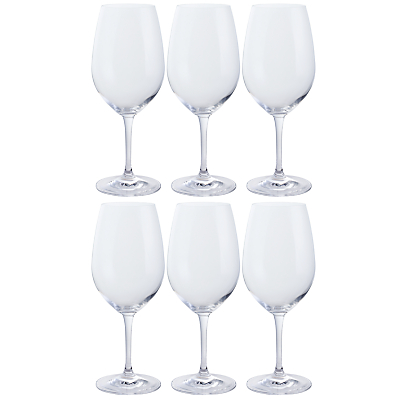 Dartington Crystal All Purpose Red Wine Glasses, Clear, Set of 6
