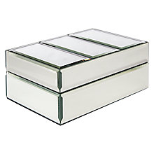 Buy John Lewis Gatsby Jewellery Box, Silver Online at johnlewis.com