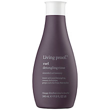 Buy Living Proof Curl Detangling Rinse, 340ml Online at johnlewis.com