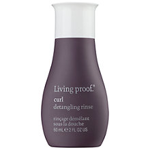 Buy Living Proof Curl Detangling Rinse, 60ml Online at johnlewis.com
