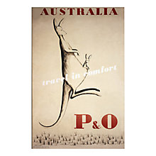 Buy P&O Heritage - Kangaroo Unframed Print with Mount, 30 x 40cm Online at johnlewis.com