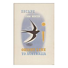 Buy P&O - Escape From Winter Unframed Print with Mount, 30 x 40cm Online at johnlewis.com