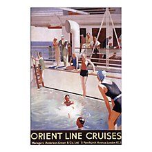 Buy P&O - Swimming Pool Unframed Print, 30 x 40cm Online at johnlewis.com