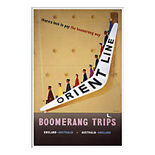 Buy P&O - Boomerang Unframed Print with Mount, 30 x 40cm Online at johnlewis.com