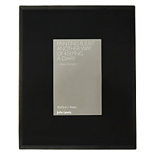"Buy John Lewis Black Glass Photo Frame, 4 x 6"" Online at johnlewis.com"