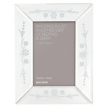 "Buy John Lewis Morzine Etched Photo Frame, 4 x 6"" Online at johnlewis.com"