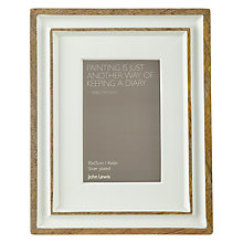 "Buy John Lewis Painted Cream Photo Frame, Country Cream, 4 x 6"" Online at johnlewis.com"