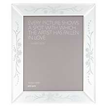 "Buy John Lewis Morzine Etched Photo Frame, 8 x 10"" Online at johnlewis.com"