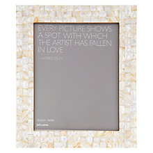 "Buy John Lewis Mother Of Pearl Photo Frame, 8 x 10"" Online at johnlewis.com"