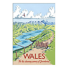 Buy Kelly Hall - Wales Unframed Print with Mount, 30 x 40cm Online at johnlewis.com