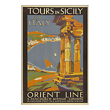 Buy P&O - Tours In Sicily Unframed Print with Mount, 30 x 40cm Online at johnlewis.com