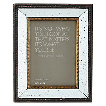 "Buy John Lewis Antique Mirrored Photo Frame, 5 x 7"" Online at johnlewis.com"