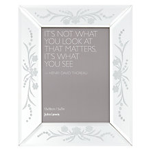 "Buy John Lewis Morzine Etched Photo Frame, 5 x 7"" Online at johnlewis.com"