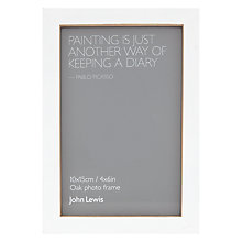 "Buy John Lewis Oak Standing Picture Frame, 4 x 6"", White Online at johnlewis.com"