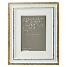 "Buy John Lewis Distressed Photo Frame, 5 x 7"", Country Cream Online at johnlewis.com"