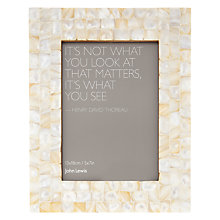 "Buy John Lewis Mother Of Pearl Photo Frame, 5 x 7"" Online at johnlewis.com"