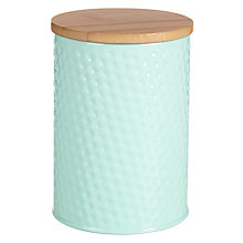 Buy House by John Lewis Jar with Bamboo Lid, Mint Online at johnlewis.com