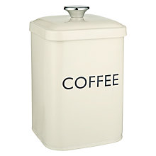 Buy John Lewis Croft Collection Coffee Tin Online at johnlewis.com