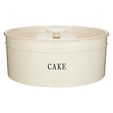 Buy John Lewis Classic Enamel Cake Tin, Cream Online at johnlewis.com