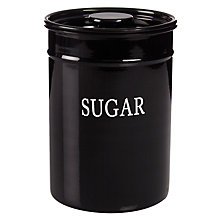 Buy John Lewis Classic Enamel Sugar Tin, Black Online at johnlewis.com
