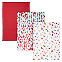Buy John Lewis Midwinter Tea Towels, Set of 3 Online at johnlewis.com
