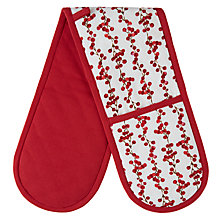Buy John Lewis Midwinter Dog Berry Oven Glove Online at johnlewis.com