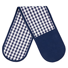 Buy John Lewis Checked Double Oven Glove Online at johnlewis.com